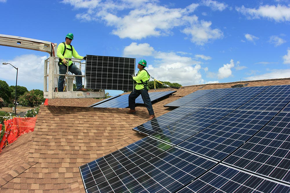 Solar Energy Solar Panel Roof Roofing System Installation Residential Home Newport Beach CA McCormack Roofing